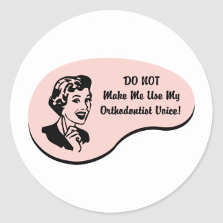Orthodontist Voice Classic Round Sticker