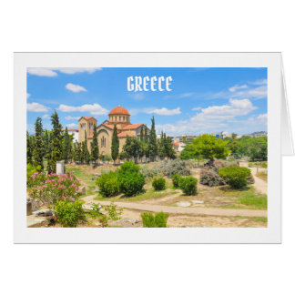 Orthodox cathedral in Athens, Greece Card