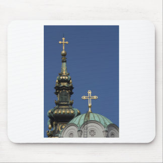 Orthodox Christian Church domes Mouse Pad