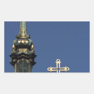 Orthodox Christian Church domes Rectangular Sticker