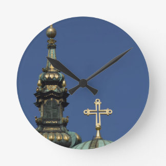 Orthodox Christian Church domes Round Clock