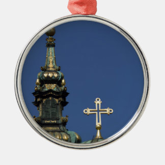 Orthodox Christian Church domes Silver-Colored Round Decoration