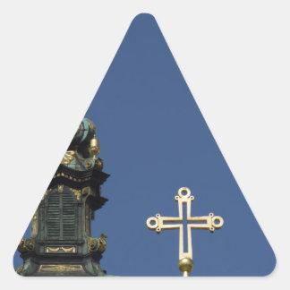 Orthodox Christian Church domes Triangle Sticker