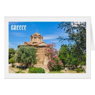 Orthodox church in Athens, Greece Card