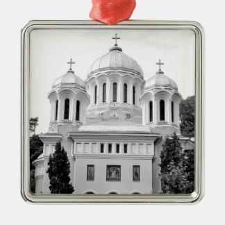 Orthodox church Silver-Colored square decoration