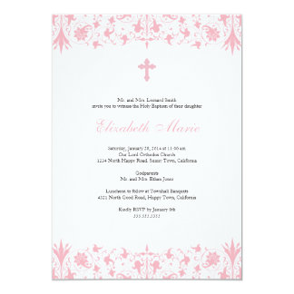 Orthodox Elegant Baptism Invitation