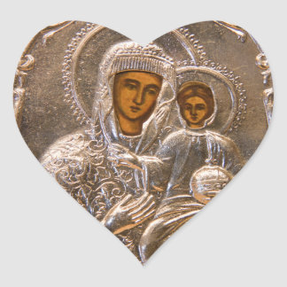 Orthodox icon heart sticker