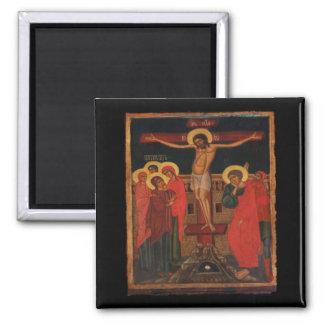 Orthodox Icon of Jesus on the Cross Magnet