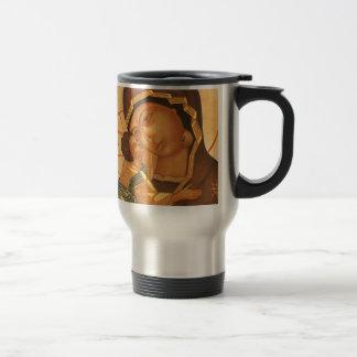 Orthodox Icon of Virgin Mary and Baby Jesus Travel Mug
