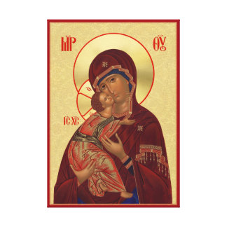 Orthodox icon - Vladimir Mother of God Canvas Print