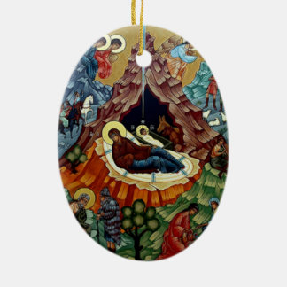 Orthodox Nativity Icon Christmas Ornament