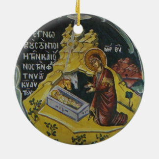 Orthodox Nativity icon Christmas ornament
