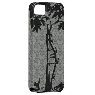 Orthopedic Crooked Tree on Gray Damask iPhone 5 Case