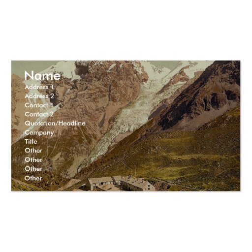 Ortler Territory, the summit of the Ortler, seen f Business Card Templates