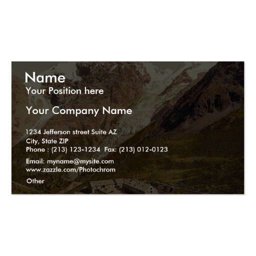 Ortler Territory, the summit of the Ortler, seen f Business Card