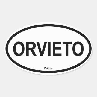 ORVIETO OVAL STICKER