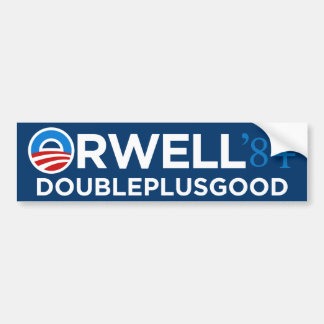 Orwell 1984 Bumper Sticker Car Bumper Sticker