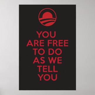 Orwellian Obama 2 Poster