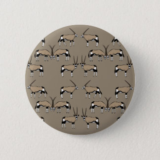 Oryx Antilope selection 6 Cm Round Badge