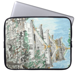 Osaka Castle Japan Painting Computer Laptop Sleeve