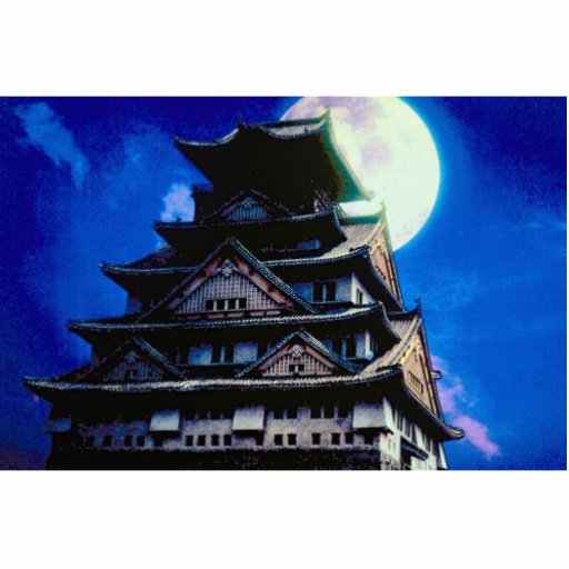 Osaka Castle, Japan with moon Photo Cut Outs