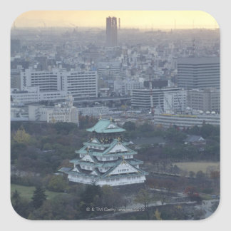 Osaka Castle Square Sticker