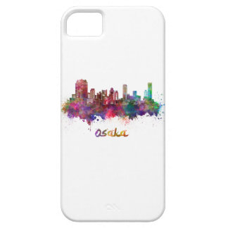 Osaka skyline in watercolor iPhone 5 covers