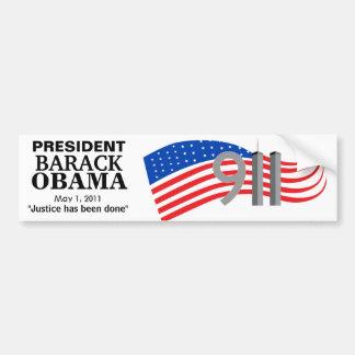 Osama Bin Laden Dead - Justice has been done Car Bumper Sticker