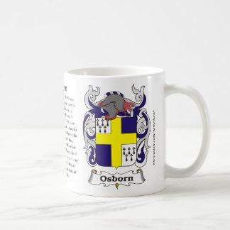 Osborn, the origin, the meaning and the crest basic white mug