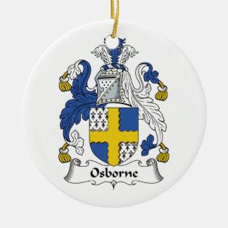 Osborne Family Crest Ceramic Ornament