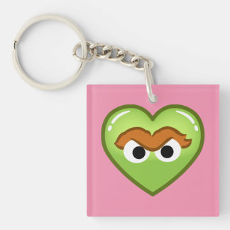 Oscar Heart Double-Sided Square Acrylic Key Ring