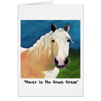 Oscar in the Green Grass greeting card