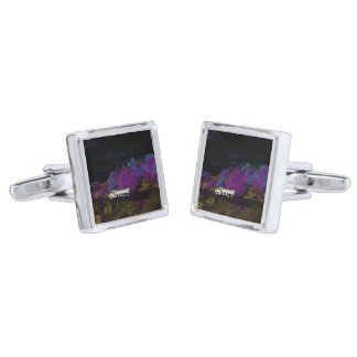 oscar leaves the party silver finish cufflinks