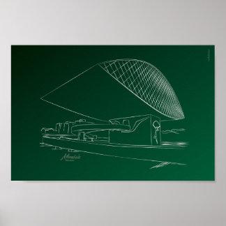 Oscar Niemeyer museum Poster