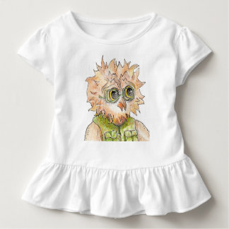 Oscar Owl Wearing Glasses Ruffled T-Shirt