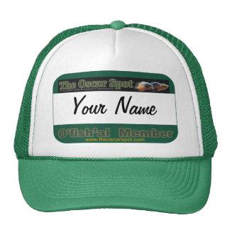 Oscar Spot Ofishal Name Tag Template Cap