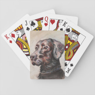 Oscar the Black Lab Playing Cards