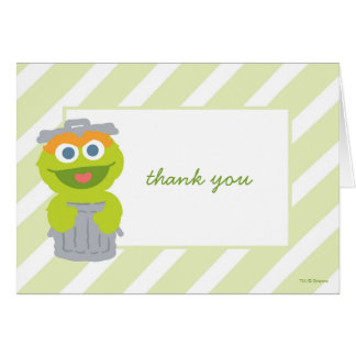 Oscar the Grouch Baby Shower Thank You Note Card