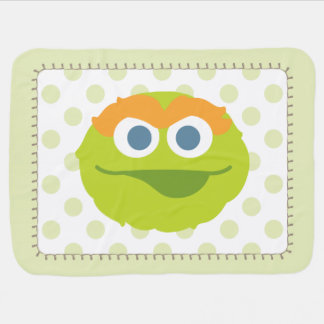 Oscar the Grouch Big Face Baby Blanket