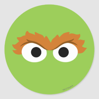 Oscar the Grouch Big Face Classic Round Sticker