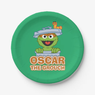 Oscar the Grouch Classic Style 7 Inch Paper Plate
