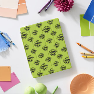 Oscar the Grouch Green Pattern iPad Cover