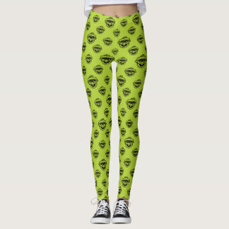 Oscar the Grouch Green Pattern Leggings