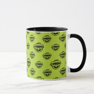 Oscar the Grouch Green Pattern Mug