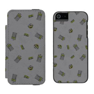 Oscar the Grouch | Grey Pattern Incipio Watson™ iPhone 5 Wallet Case