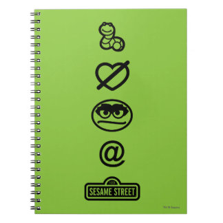 Oscar the Grouch Icons Notebooks
