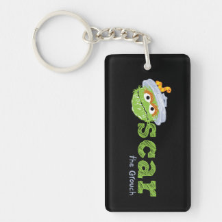 Oscar the Grouch Name Key Ring