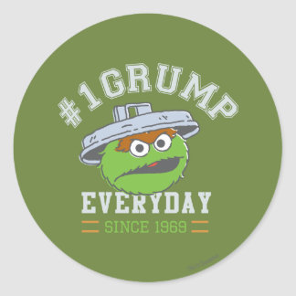 Oscar the Grouch Number 1 Classic Round Sticker
