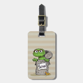 Oscar the Grouch Scram Luggage Tag