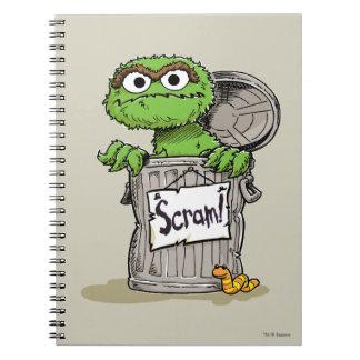 Oscar the Grouch Scram Notebook
